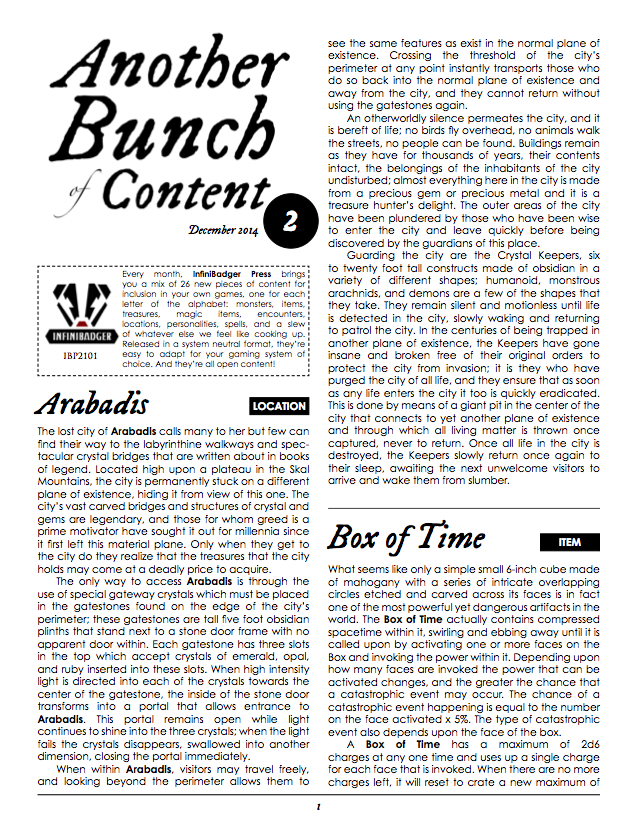 IBP 2101 - Another Bunch of Content Issue 2 Page 1