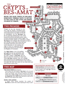 IBP 1601 - Polyhedral Dungeon Crypts of Bes-Amat Front Page
