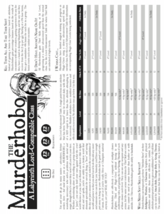 The Murderhobo Class Front Page OBS New